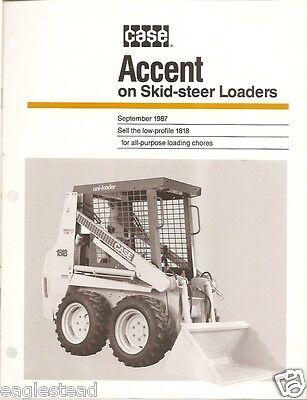 Equipment Brochure - Case - 1818 - Uni-Loader Skid-Steer - 1987 (EB497)