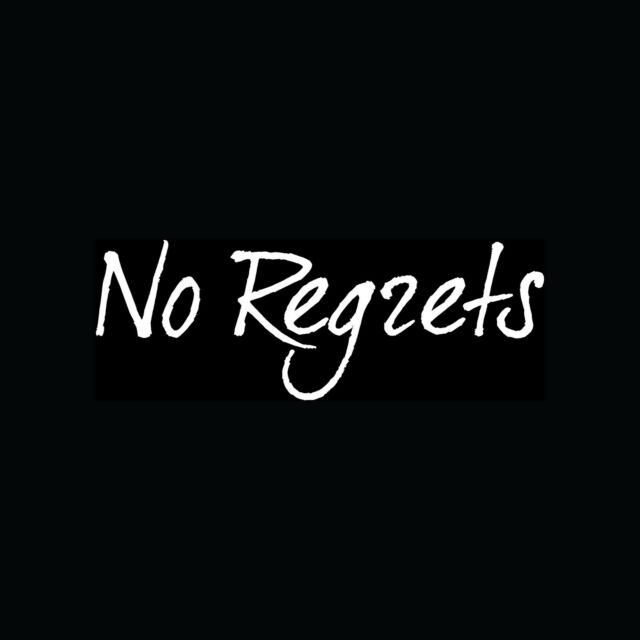 NO REGRETS Sticker Cool Gift Vinyl Decal Choice Love Life Enjoy Happy Smile Fun