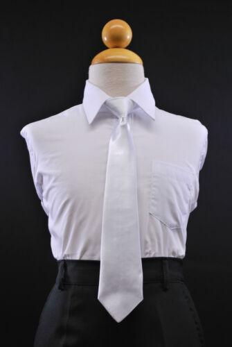 Children Kid /& Boy 13 Color Satin Long Neck Tie Zipper//Clip Tuxedo Suit Sz:2T-16