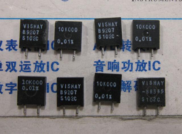 2x 10K000 Vishay S102C Series Metal Foil Resistors 0.01%