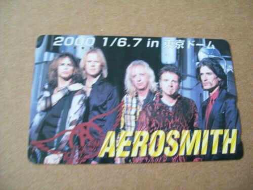 AEROSMITH USED MUSIC PHONECARD FROM JAPAN (MUSIC165)