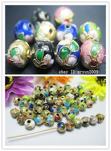 Free-10-100pcs-mixed-color-cloisonne-Fit-Charms-Bracelet-Spacer-Beads-6mm-10mm