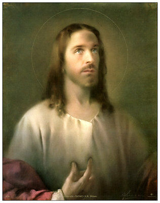 SACRED HEART OFJESUS 8x10 Catholic Art Print Picture from Italy