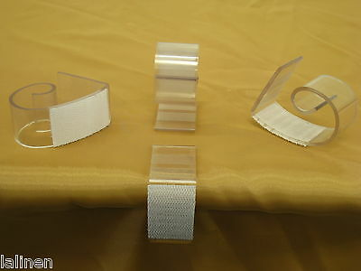 """Table Skirting Clips With Velcro. For 2"""" - 2.5"""" Tables"""