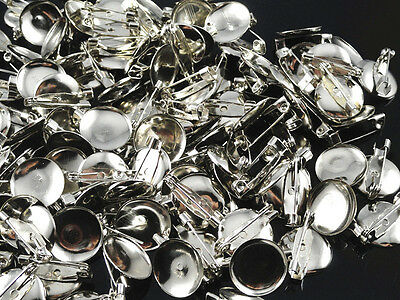 100/500pcs 20mm metal brooch applique crafts diy wedding