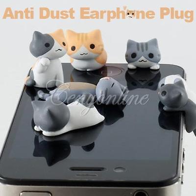 Cat 3.5mm Anti Dust Earphone Plug Headset Stopper Cap For iPhone 5 4 iPad HTC S3