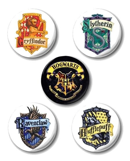 "HARRY POTTER CRESTS - 1"" / 25mm Button Badge- Logos Hogwarts Badges (Various)"