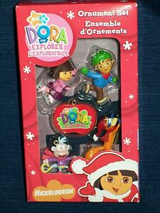 NIB-Nickelodeon-DORA-THE-EXPLORER-Christmas-Tree-Ornaments-New-in-Box