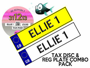 COMBO-PACK-KIDS-RIDE-ON-CAR-TAX-DISC-amp-PERSONALISED-NUMBER-PLATES