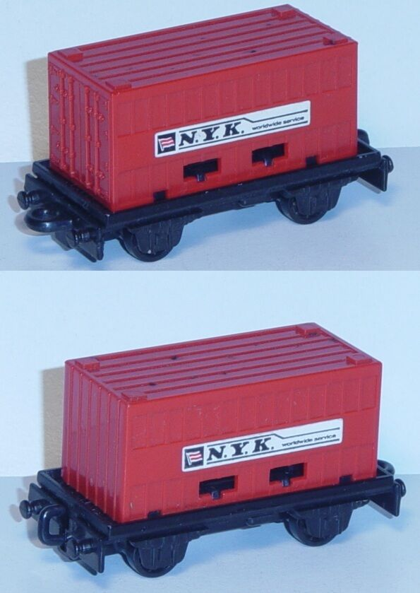 Matchbox MB25 Flat Car black, PSI Container feuerred, N.Y.K. worldwide service