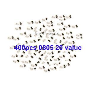 400pcs-0805-SMD-SMT-Resistor-Assort-kit-20-kinds-value-5-New