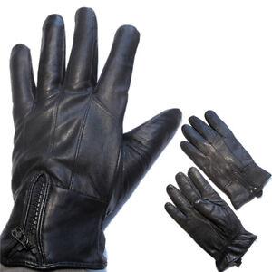 Mens-Leather-Gloves-Genuine-Black-Driving-Riding-Comfort-M-L-XL-XXL