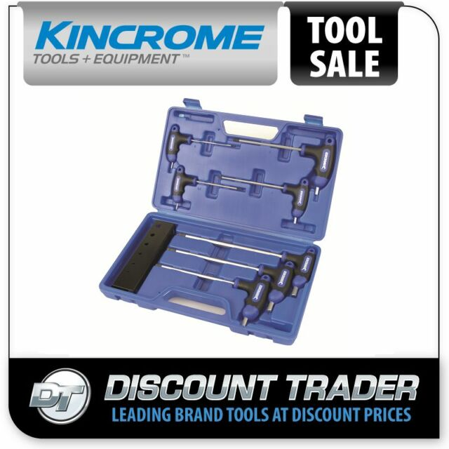 Kincrome T-handle Hex Key Wrench Set 7 Piece Metric - K5040