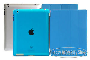 Blue-New-iPad-4-4G-iPad-3-2-Smart-Cover-Skin-Case-Crystal-Clear-Hard-Back-Case