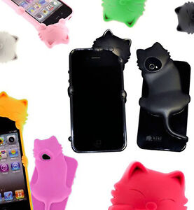 KiKi-Cute-3D-Cat-Design-Silicone-Jelly-Premium-Case-Cover-For-Apple-iPhone-4-4s