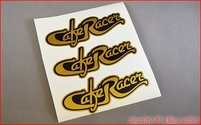 CAFE RACER project Script Style GOLD Decals Logos Stickers Ducati Enfield BMW