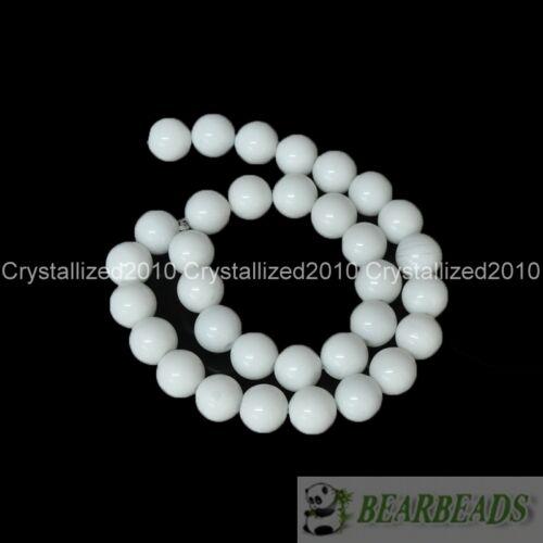 100pcs Natural White Alabaster Gemstone Round Ball Beads 4mm 6mm 8mm 10mm 12mm