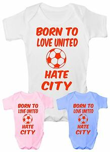 Love-Man-United-Hate-Man-City-Football-Babygrow-Vest-Gift-Boy-Girl-Baby-Clothing