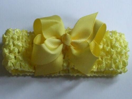 Baby//Girls//Ladies Bow Flower Hair Head Band Crochet New