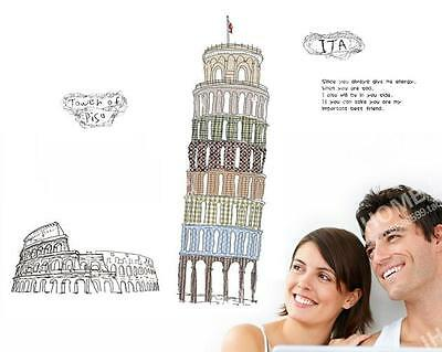 Italy Home room Decor Removable Wall Sticker/Decal/Decoration