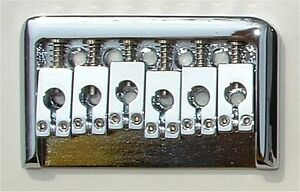 Guitar Hardware - 6 Saddle FIXED HARDTAIL BRIDGE - CHROME