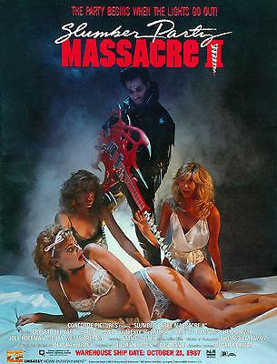SLUMBER PARTY MASSACRE Movie Poster Horror XXX Sexy Slasher