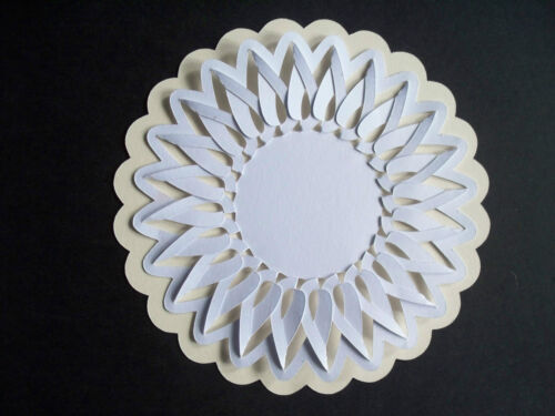 12 LACED LAYERED DOILIES FRAMES SILHOUETTE DIE CUTS CARDS PLUS NEW DESIGNS