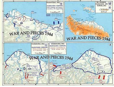 1:6 SCALE WW II PACIFIC WAR MAP SET