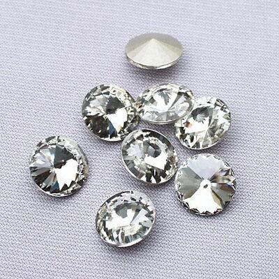 Rhinestones  Rivoli Crystal Clear Free Shipping Multiple Size