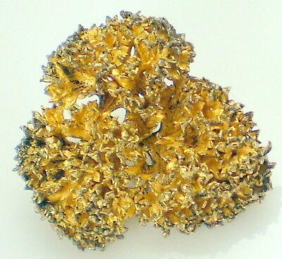 Vintage FLORA DANICA Sterling Silver Gold Vermeil EGGERT Denmark Wide Brooch Pin