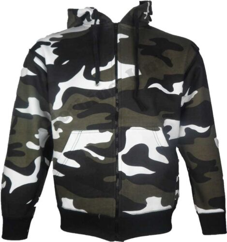 New Mens Army Military Camo Camouflage Zip Hoodie Hooded Jacket Top 2 for £24.95