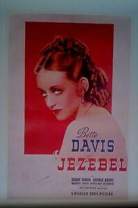 JEZEBEL-Licensed-Movie-POSTER-90cm-x60cm-Brand-New-Bette-Davis-Vintage-Old