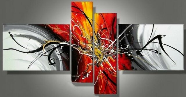 ORIGINAL MODERN ABSTRACT WALL ART OIL PAINTING ON CANVAS:Crafts (no frame)