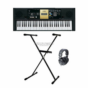 Yamaha-YPT-220-Keyboard-Keyboardstaender-Kopfhoerer-Netzteil-TOPSELLER