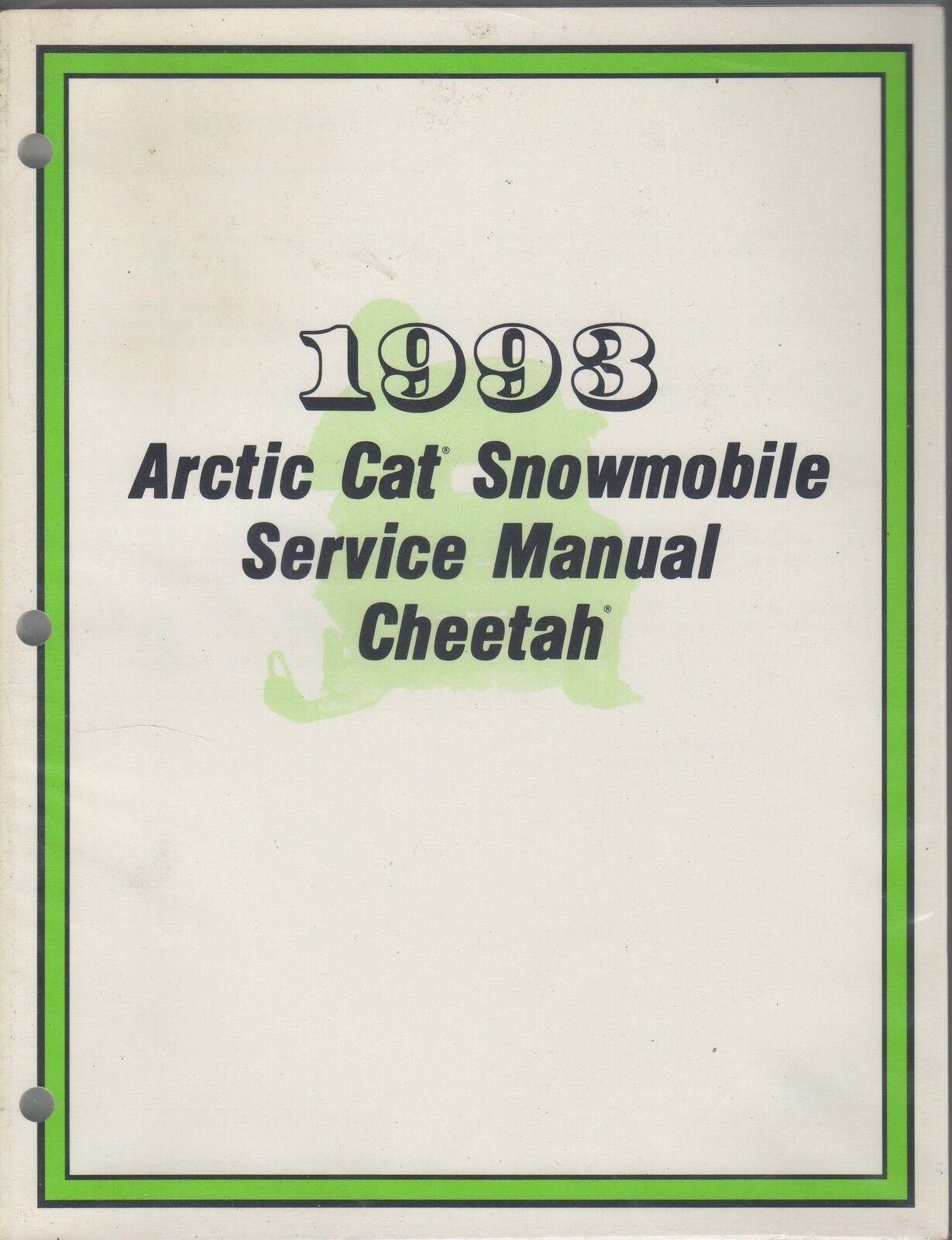 1993 ARCTIC CAT SNOWMOBILE CHEETAH SERVICE MANUAL PN 2254-829