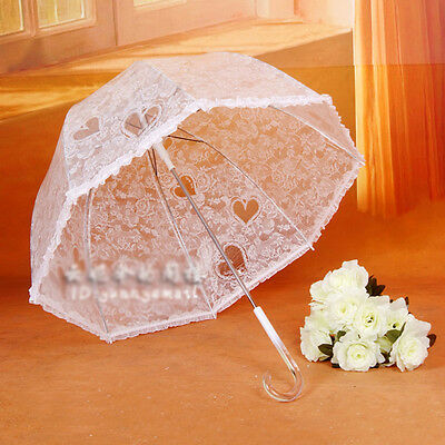 high quality Lady Sun/Rain Umbrella Beautiful dome transparent auto open