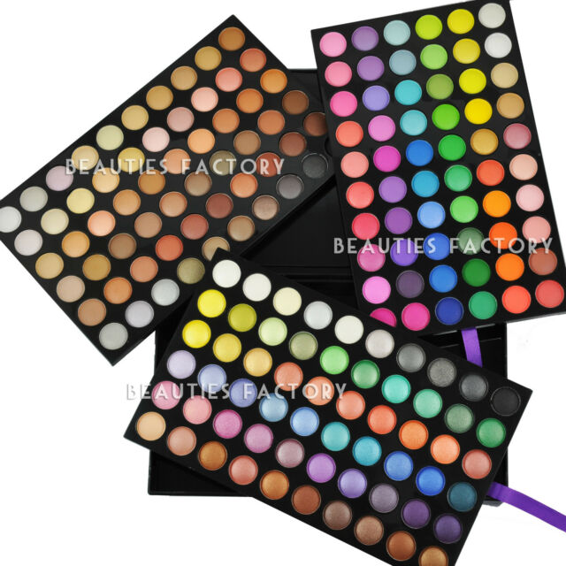 Beauties Factory 180 Full Color Eye Shadow Neutral Makeup Palette Primer Set 888
