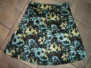 802-Liz-Claiborne-Axcess-Multi-Color-Floral-Crinkle-Satin-Skirt-6