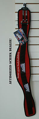 Schiek Model 2006 Nylon Red Weight Lifting Belt Bodybuilding Weightlifting New