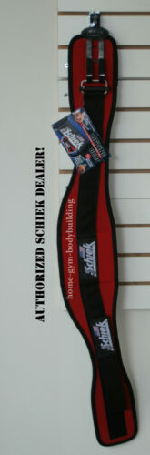 Schiek Model 2006 Nylon Red Weight Lifting Belt Bodybuilding Weightlifting New