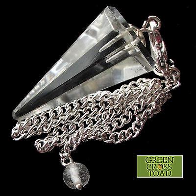 Clear Quartz Point Rock Crystal Dowsing Pendulum