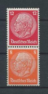 3-REICH-Zusammendruck-S-110-HINDENBURG-1933-sauber-ungebr-Mi-36-a4612