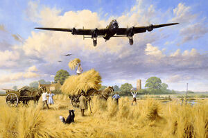 aviation-art-Dambusters-pilot-signed-Ltd-edition-WW2-RAF-Avro-Lancaster-print