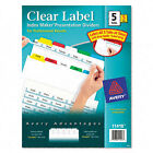 Avery Dennison Ave-11418 Index Maker Punched Clear Label Tab Divider