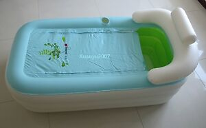 New Folding Portable Adult Spa Pvc Bathtub Inflatable