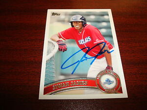 2011-TOPPS-MINOR-LEAGUE-193-JIWAN-JAMES-BLUECLAWS-PHILLIES-SIGNED-AUTOGRAPH