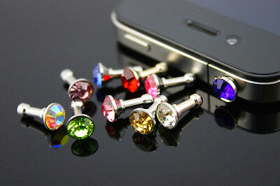 10pc Bling Anti Dust Proof Ear Cap Plug Cover For iPhone 4 5 3S 4S/3.5mm Ipod