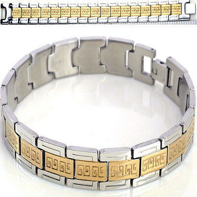 New Stainless Steel Bangle Gold Silver  Link Wristband Chain Mens Bracelets Gift