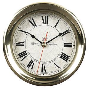 AUTHENTIC-MODELS-Captains-Nautical-Wall-Clock-Maritime-Antique-Reproduction