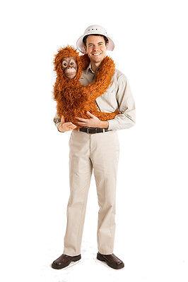 New Baby Orangutan Costume Arm Puppet Suit - Adult Halloween Gorilla Costume